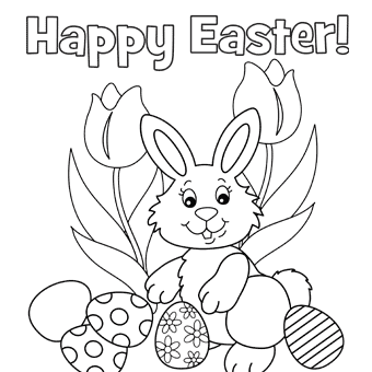 happy easter free easter coloring pages bunny coloring