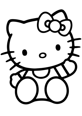 hello kitty coloring page free printable coloring pages
