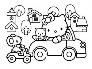 hello kitty free printable coloring pages for kids page 2