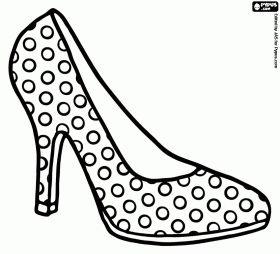 high heel shoe with polka dots httpsladieshighheelshoes
