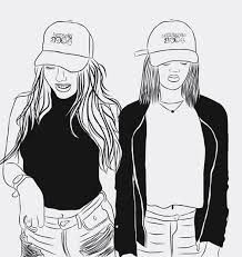 image result for best friend outline drawing tumblr with