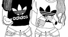 image result for best friend outline drawing tumblr