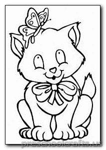 kitten coloring pages preschool and kindergarten