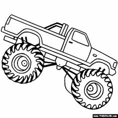 madusa monster truck kids coloring pages pinterest