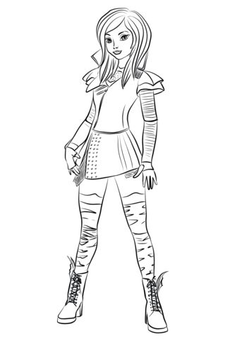 mal from descendants coloring page descendants coloring
