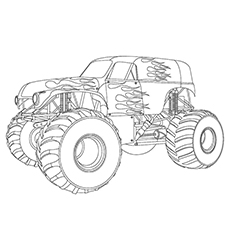mohawk warrior monster truck coloring pages coloring pages