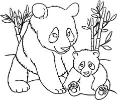mom and ba animal coloring pages