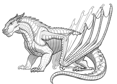 mudwing dragon from wings of fire coloring page free