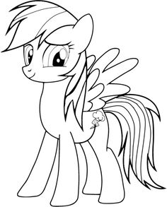 my little pony rainbow dash coloring pages printable