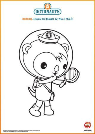 octonauts scientist shellington coloring page octonauts