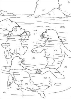 penguin coloring page kids winter theme crafts and