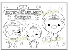 personalized octonauts birthday party printable favor