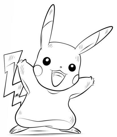 pokemon coloring pages pikachu part 3 free resource