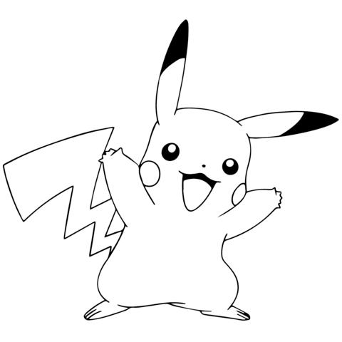 pokmon go pikachu celebrating coloring page com imagens