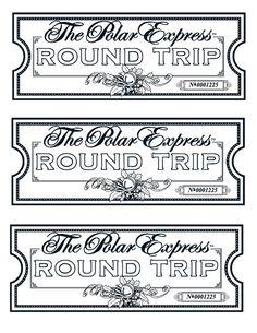 polar express free printable ticket christmas polar