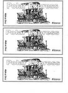 polar express ticket template bing images polar
