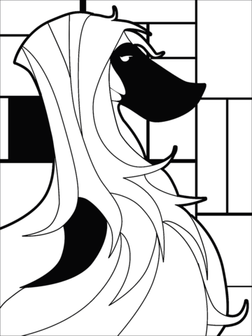 pop art saluki dog coloring page free printable coloring