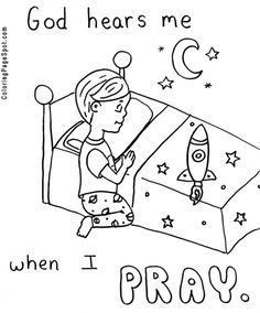 prayer coloring pages for kids free printable pictures