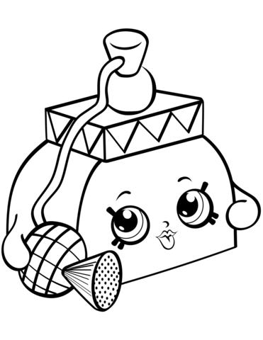 pretty puff shopkin coloring page free printable