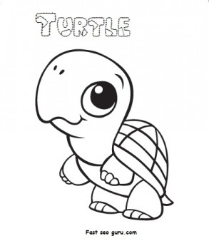 print out ba animal turtle coloring pages printable