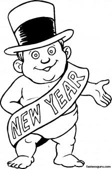 printable coloring pages new year ba printable