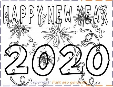 printable happy new year 2020 coloring pages for kidsfree