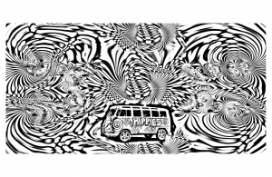 psychedelic 8 psychedelic adult coloring pages