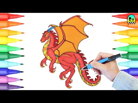 red dragon coloring pages i fun coloring videos for kids