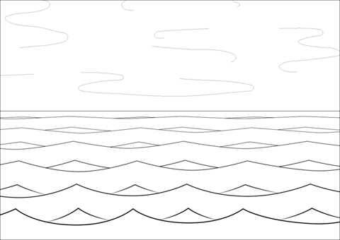 sea and waves coloring page free printable coloring pages