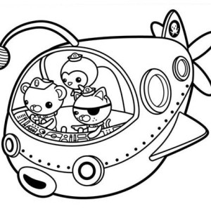shark octonauts colouring pages