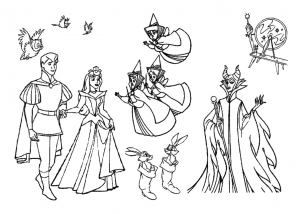 sleeping beauty free printable coloring pages for kids