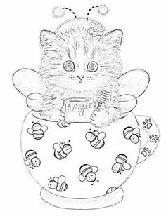 teacup kittens coloring book kayomi harai 9781497202269