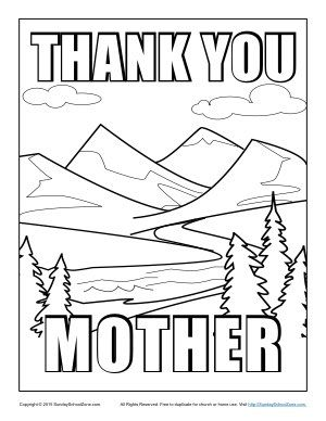 thank you mother coloring page mom coloring pages
