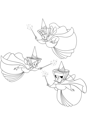 three good fairies flora fauna and merryweather