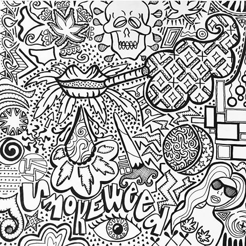trippy coloring pages star shroom razorblade