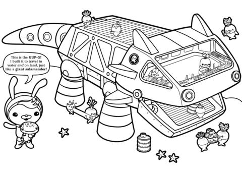 tweak presents the gup g coloring page cartoon coloring