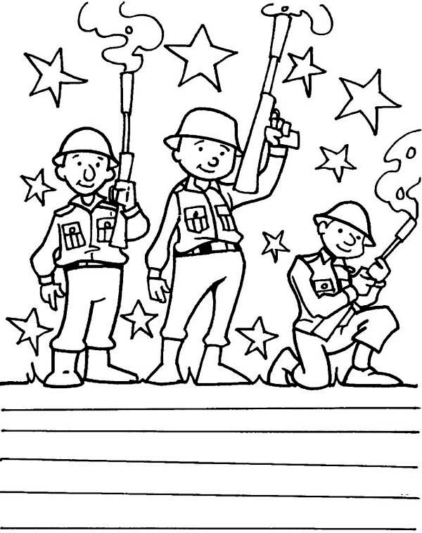 american soldier coloring pages at getcolorings free