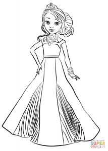 audrey coloring page descendants coloring pages disney