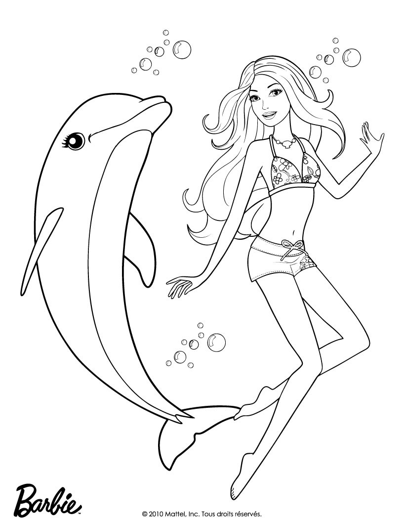 barbie mermaid coloring pages getcoloringpages