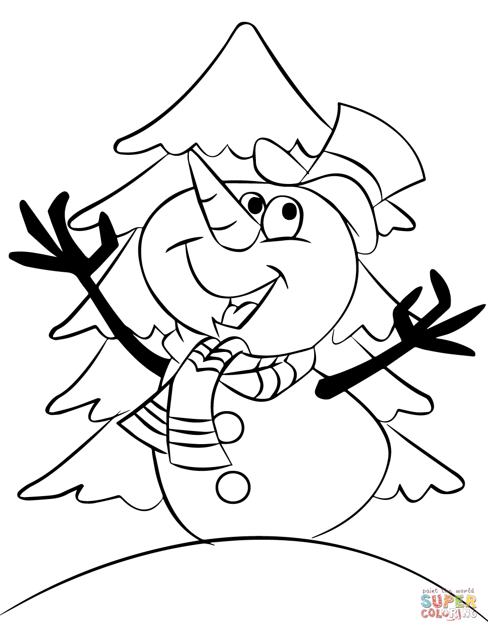 blank snowman coloring pages at getcolorings free