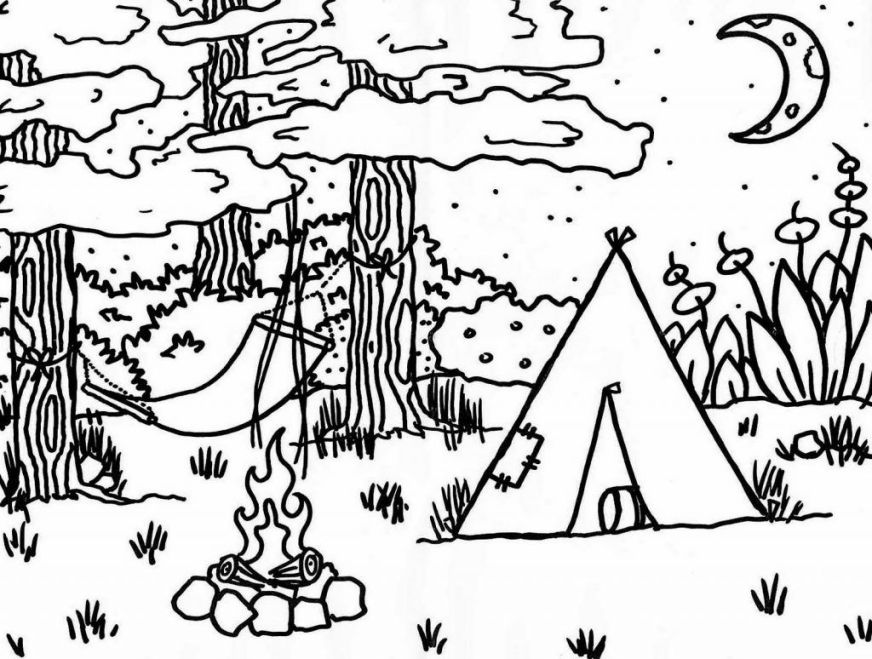 camping coloring pages camping coloring pages coloring