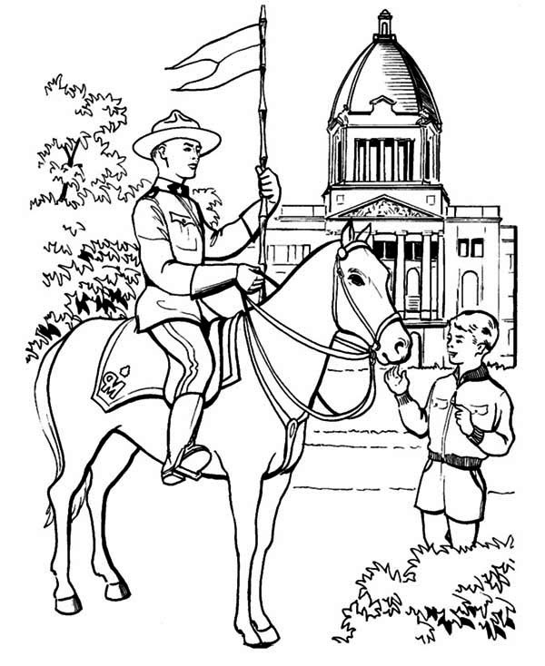 canada police officer coloring page netart