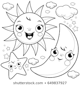 cartoon illustrations smiling sun images stock photos