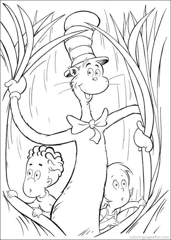 cat in the hat coloring pages getcoloringpages