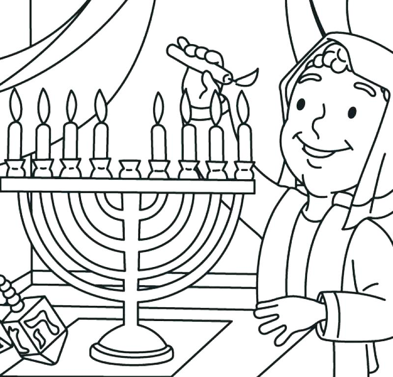 chanukah coloring pages printable at getdrawings free
