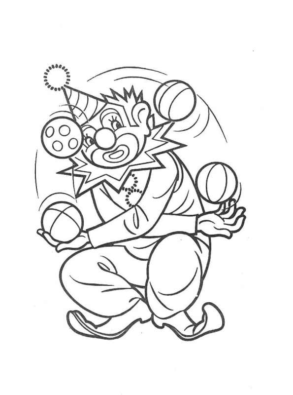 clowns coloring pages coloringpages1001