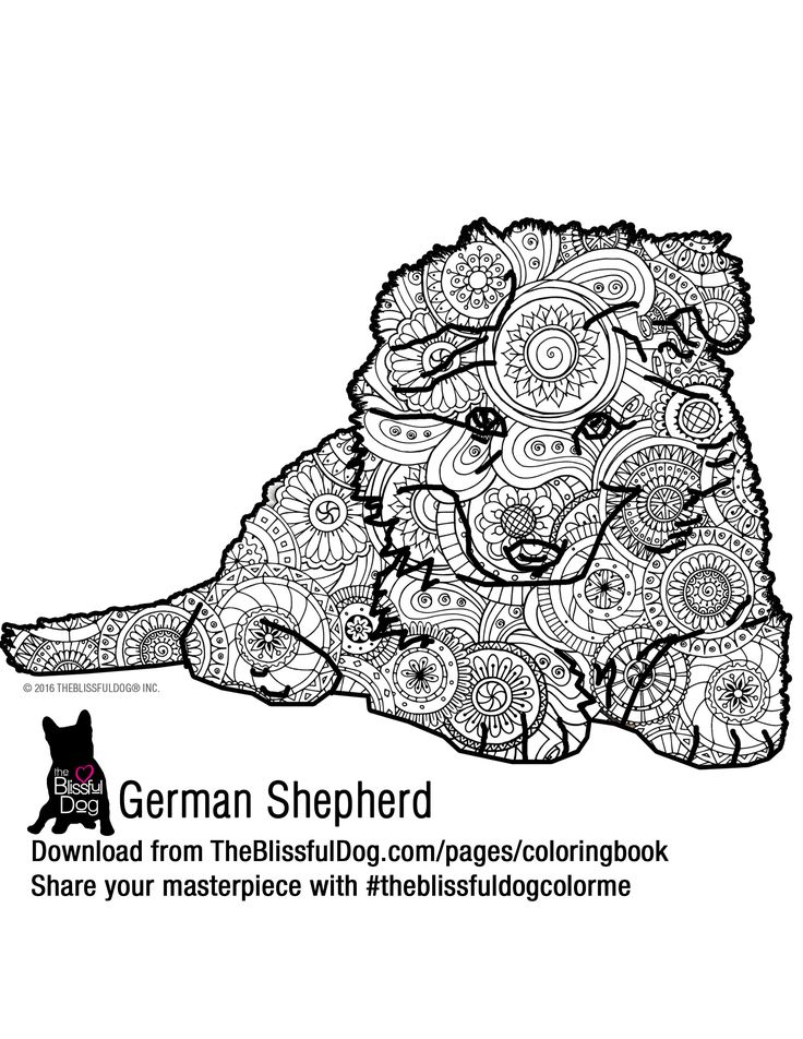 coloring book german shepherd colors dog coloring page