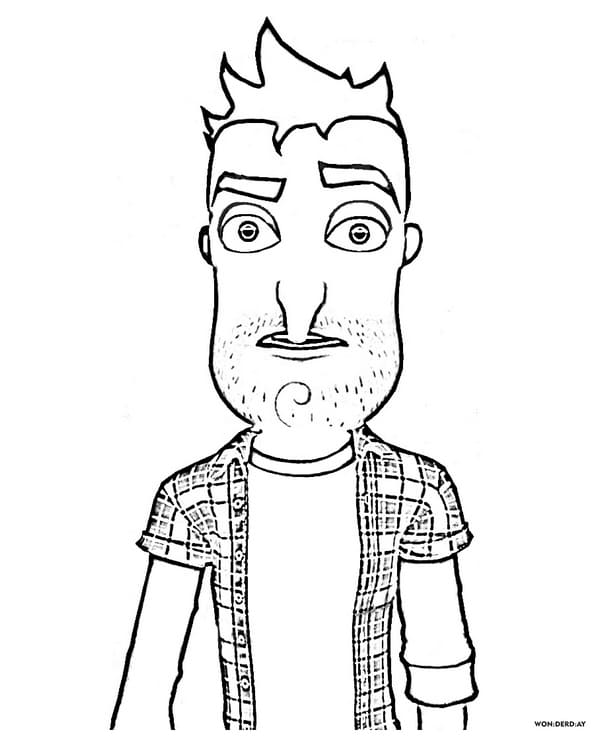 coloring pages hello neighbor print free characters from