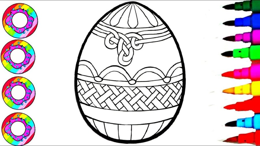 colouring giant easter egg coloring pages for kids l how