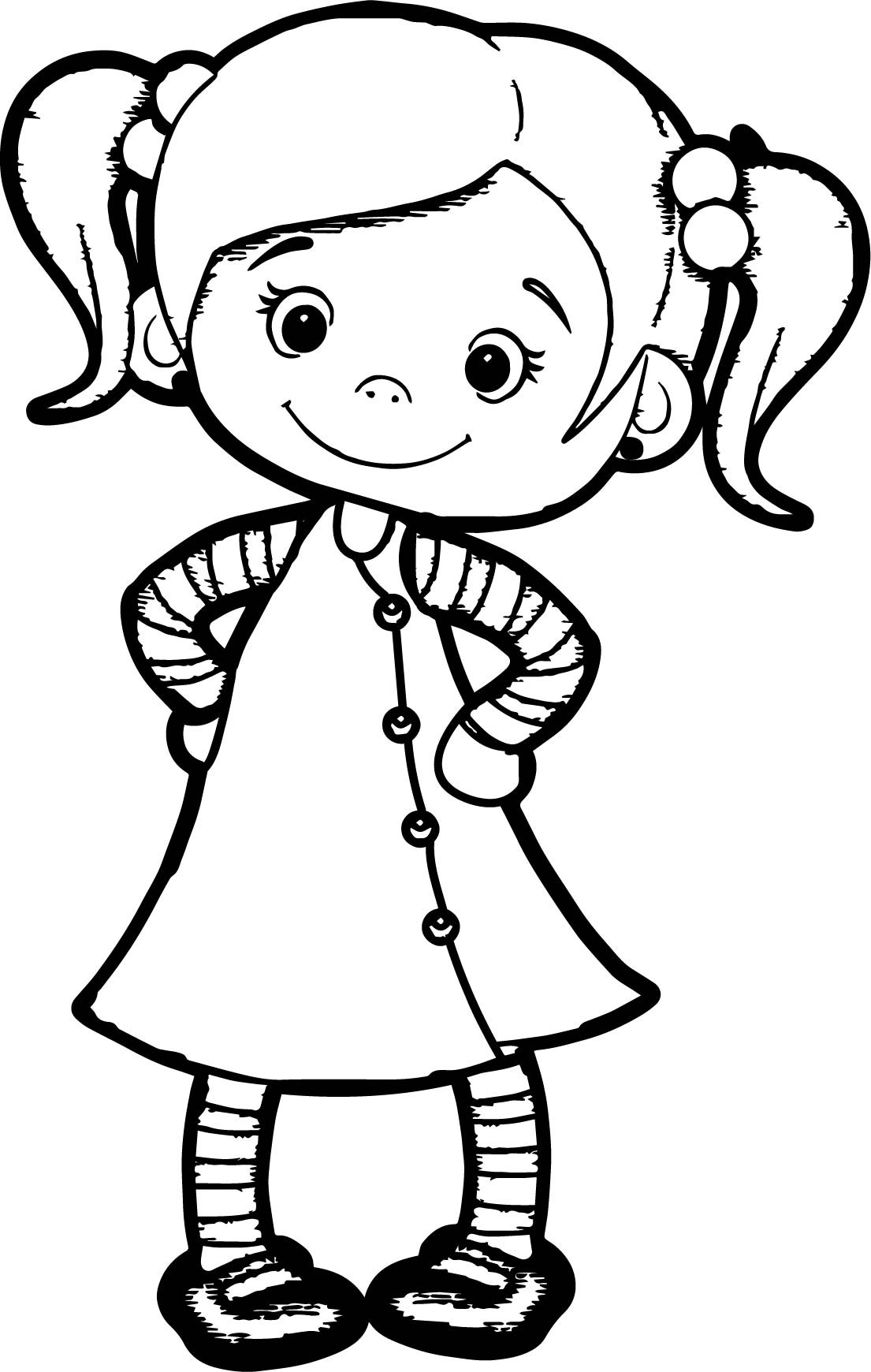 cute girl coloring pages print at getcolorings free